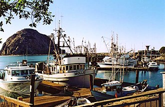 Morro Bay, California - The boat docks of Morro Bay