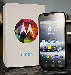 Moto X (1st generation) Android smartphone developed by Motorola Mobility