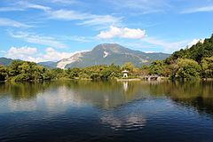 Mount Ibuki from Mishima Pond (2012-10-08).JPG
