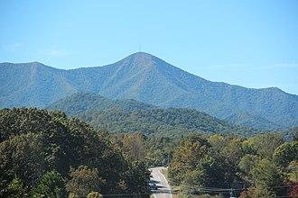 Mount Pisgah (mountain in North Carolina) - Image: Mount Pisgah from NC 151, Oct 2016 1