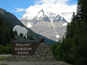Entrance of Mount Robson Provincial Park, British Columbia, Canada.