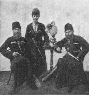 Jewish military history - Armed Mountain Jewish men, c. 1900 (1905-06 Jewish Encyclopedia)