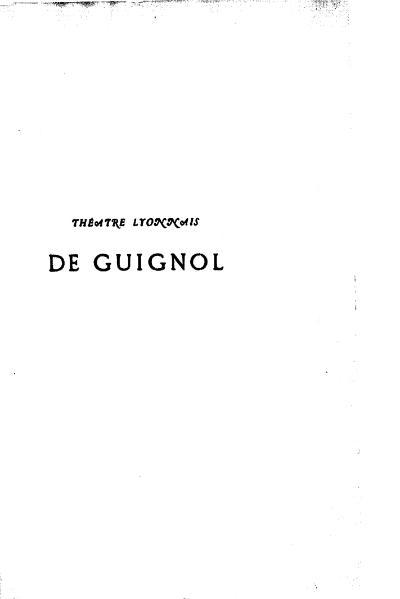File:Mourguet - Théatre lyonnais de Guignol, tome 2.djvu