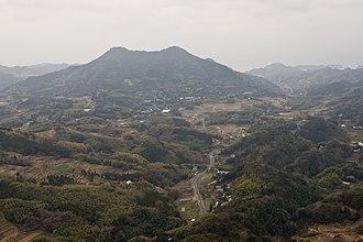 Mount Tomi - View of Mount Tomi from Mount Iyogatake, Minamibōsō, Chiba