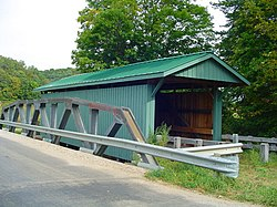 Mt. Olive Road Covered Bridge, a historic site in the township