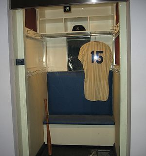 Thurman Munson - Munson's locker in the New York Yankees Museum, 2009.