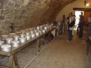 Sheep milk cheese - Museum of the traditions of Cornus (Aveyron). The dairy of Roquefort.