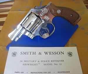 Smith & Wesson Model 12 - Image: My .38 SPL S & W model 12 2 (5)