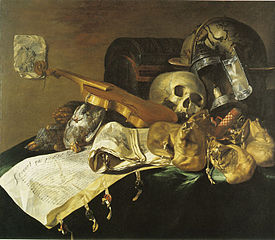 Skull, Money Bags, and Documents