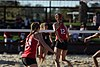 NCAA beach volleyball match at Stanford in 2017 (33370968015).jpg