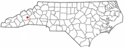 Location of Black Mountain, North Carolina