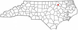 Enfield, North Carolina - Image: NC Map doton Enfield