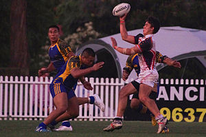 Philippines national rugby league team - Niue v. Philippines in a test match in Sydney, Australia.