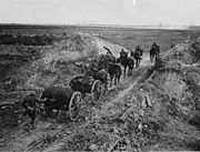 NLS Haig - Artillery going through a cutting in the Canal du Nord