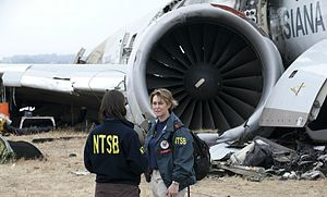 "National Transportation Safety Board - NTSB ""go team"" members at the Asiana Airlines Flight 214 crash site"