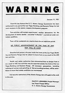 Nevada Test Site Wikipedia