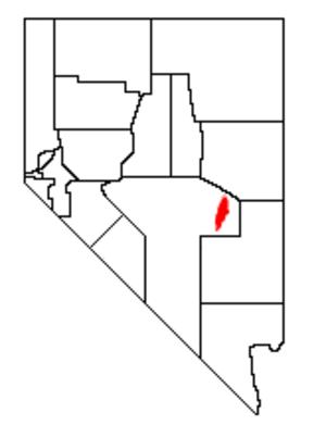 Grant Range - Location of the Grant Range within Nevada