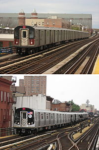 NYC Subway R142 on the 4 R160A on the M.jpg