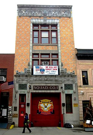 New York City Fire Department Squad Company 1 - The Squad's station house