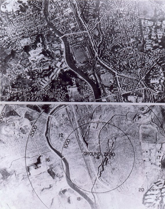 Nagasaki 1945 - Before and after