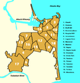 Napier, New Zealand numbered suburbs map.png