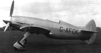 Napier Sabre - The first aircraft designed around the Sabre engine – the Napier-Heston Racer which crashed during early flight tests.