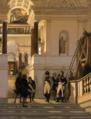 Napoléon Ier visitant l'escalier du musée du Louvre.PNG