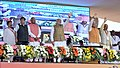 Narendra Modi at the foundation stone laying ceremony of three National Highway Projects, at Sonipat, in Haryana. The Governor of Haryana, Prof. Kaptan Singh Solanki.jpg