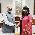Narendra Modi with Terri Sewell - 2018.jpg