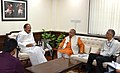 Narendra Singh Tomar meeting the Union Minister for Urban Development, Housing & Urban Poverty Alleviation and Information & Broadcasting, Shri M. Venkaiah Naidu, in New Delhi.jpg