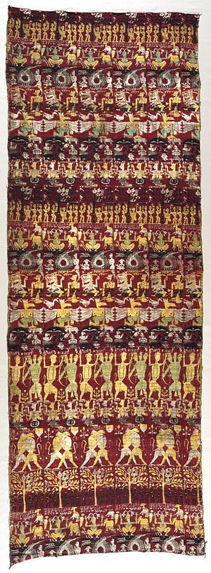 Sankardev - Image: Narrative Curtain Depicting Avatars of Vishnu (Vrindavani vastra) LACMA AC1995.94.1