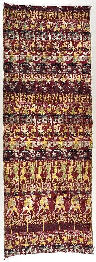 Sankardev - Image: Narrative Curtain Depicting Avatars of Vishnu (Vrindavani vastra) LACMA AC1995.94.1