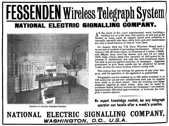 1905 company advertisement National Electric Signalling Company (1905 advertisement).jpg