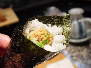 Koni Store - Image: Natto temakizushi by nattokun in Honolulu