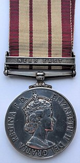 Naval General Service Medal (1915) campaign medal awarded to British navy personnel from 1915 to 1962