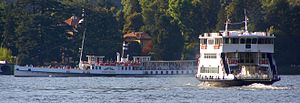 Ships on Lake Como (Italy) Italiano: Navi sul ...