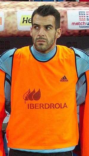 Álvaro Negredo - Negredo on the substitutes' bench for Spain in 2013