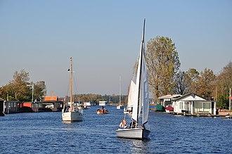 Teylingen - The Kagerplassen lake system in Teylingen