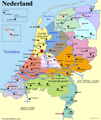 Map Of The Netherlands And Germany.List Of Cities In The Netherlands By Province Wikipedia