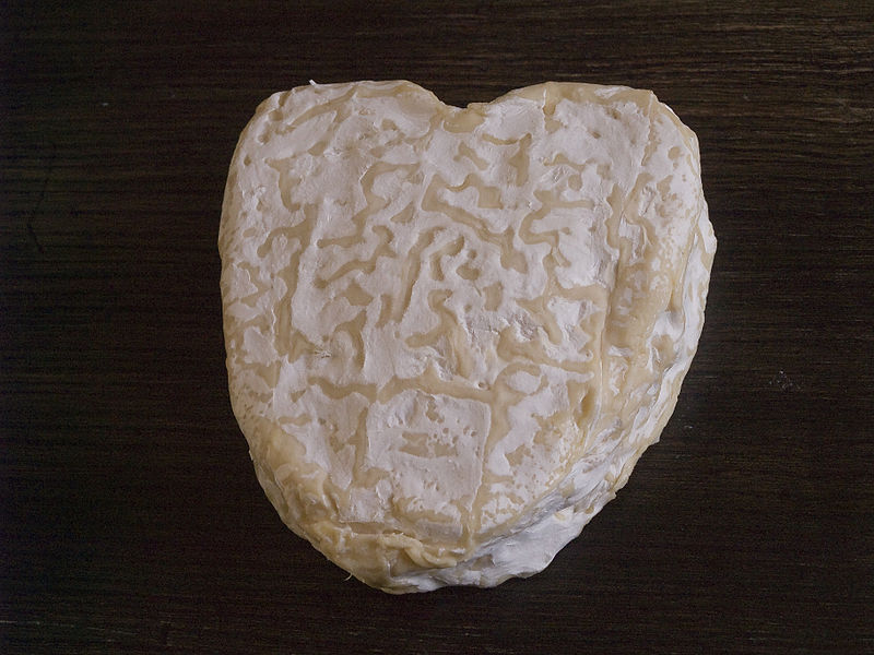 French Neufchâtel is a cheese made in the region of Normandy and usually sold in heart shapes.