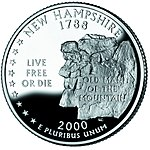 New Hampshire quarter, reverse side, 2000