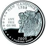 New Hampshire trimestre, al reverso, 2000.jpg
