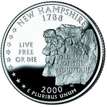 The reverse of the state quarter of New Hampsh...