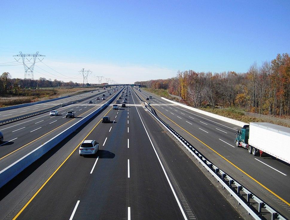 New Jersey Turnpike widening Robbinsville Nov 2014