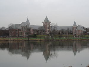 New Rochelle High School - Front campus of New Rochelle High School
