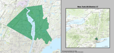 New York 's 17th congressional district - since January 3, 2013.