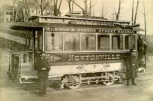 Newton and Boston Street Railway - Newton and Boston Street Railway trolley car