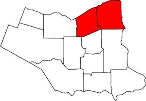 Niagara (electoral district) - Niagara electoral district compared to modern Niagara Regional Municipality.