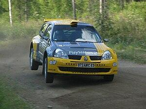 Nicolas Bernardi - Bernardi during the 2004 Rally Finland.