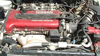 Nissan SR engine - U13 Bluebird SR20DET. (FWD/AWD layout)